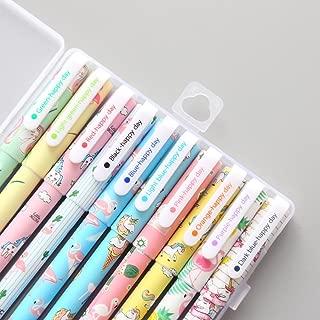 10 Pcs Unicorn Flamingo Gel Pens Set,Fine Point (0.5mm), Black Ink Color,Best Unicorn Gifts for Girls