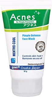Acnes Mentho-Cool Pimple Defense Face Wash, 50g (Pack of 2)