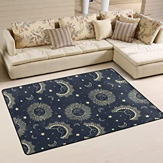 S Husky Large Area Rug for Living Room Mandala India Bohemia Rug Star Moon Folk-Custom Soft Baby Children Crawl Mat for Bedroom Classroom Decorative Carpet Floor Mat Play Mat 72 x 48 in 2042698