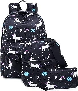 School Backpacks Set, Libay Student Bookbags Laptop Daypack Bags for Teen Girls