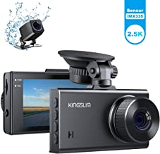 Kingslim D2 2.5K Dual Dash Cam, 1440P&1080P Front and Rear Camera for Cars 170 Degree Driving Recorder with Sony Starvis S...
