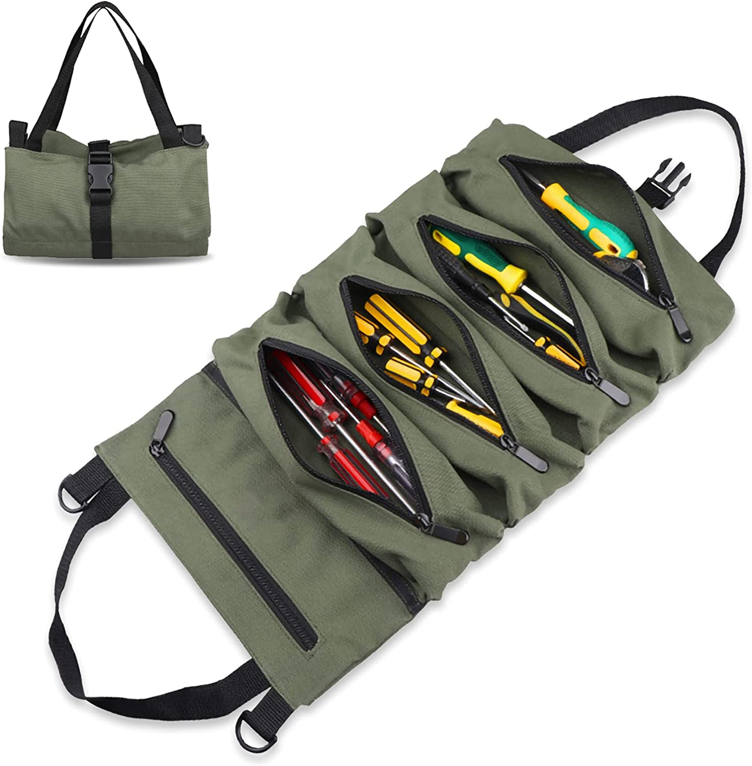 Tool roll up Max outlet 79% OFF bag Wrench Roll Up Organizer and Pouch