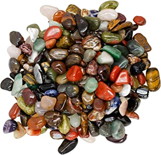 """Hypnotic Gems Materials: 3 lbs Rare Assorted Stone Mix from Africa - Extra Small - 0.50"""" to 0.75"""" - Bulk Polished Gemstone Rock Supplies for Crafts, Reiki, Crystal Healing and More!"""