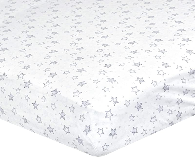 Just Born Dream Sateen Sheet Navy White Stars One Size