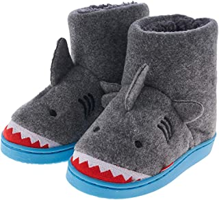 Image of Funny Shark Bootie Slippers for Toddler Boys