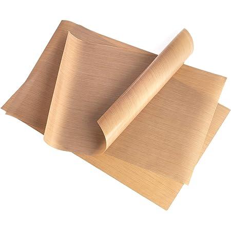GOURMEO Lot de 3 papiers de Cuisson (32 x 46 cm) réutilisables, antiadhésifs, durables, compatibles Lave-Vaisselle, découpables | Tapis de Cuisson, Feuilles de Cuisson durables