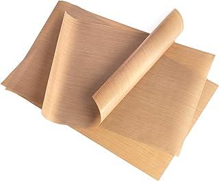 GOURMEO Lot de 3 papiers de Cuisson (32 x 46 cm) réutilisables, antiadhésifs, durables, compatibles Lave-Vaisselle, découp...