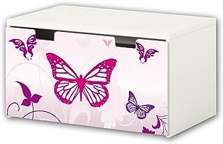 comprar comparacion Mariposa pegatinas | pegatinas para muebles | BT16 | adecuado para el arcón de banco STUVA von IKEA para niños (90 x 50 cm...