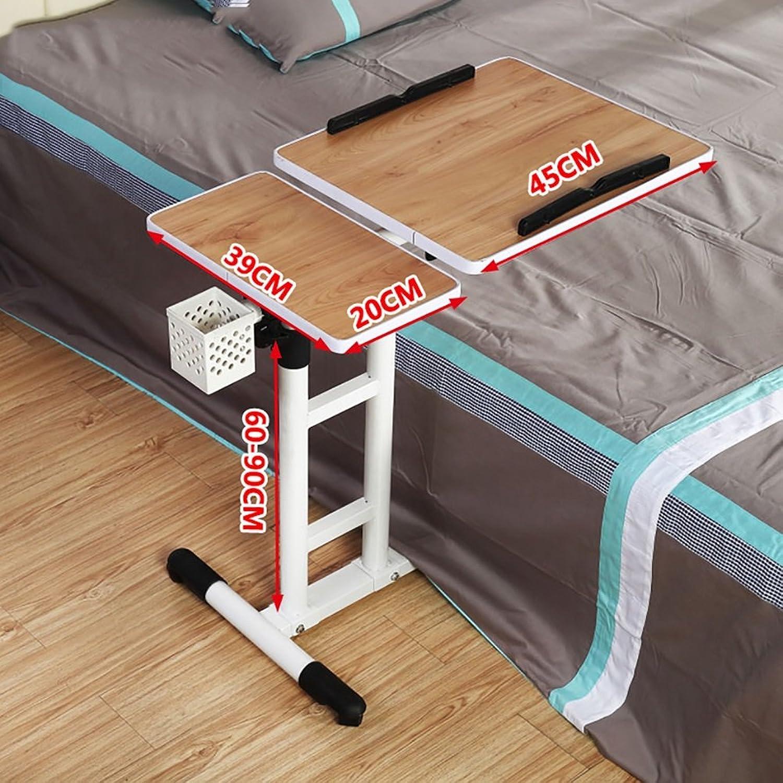 YAXIAO-table Laptop Desktop Adjustable Height Learning Desk Belt Mobile Workbench Foldable