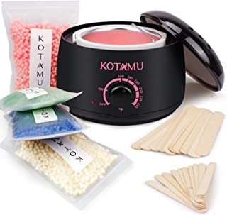 Waxing Kit,KOTAMU Wax Warmer Hair Removal Home Wax Kit with 14.1oz Hard Wax Beans for Full Body,Legs,Face,Eyebrows,Bikini,...