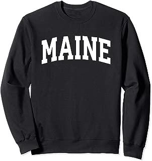 Maine Crewneck Sweatshirt Sports College Style State Gifts