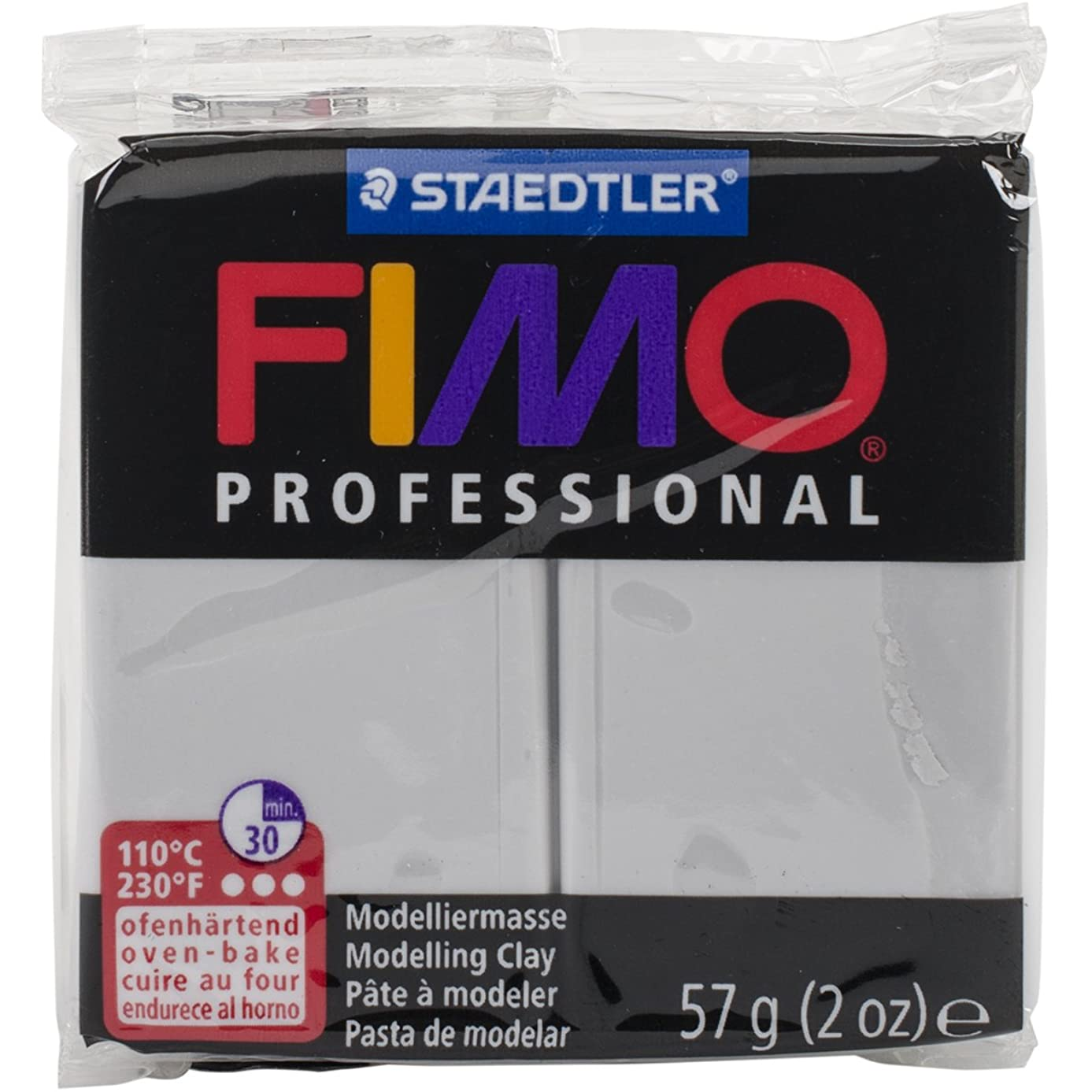 Staedtler EF8005-80 Fimo Professional Soft Polymer Clay, 2 oz, Dolphin Grey