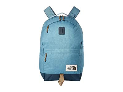 The North Face Daypack (Storm Blue Dark Heather/Blue Wing Teal) Backpack Bags
