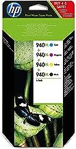 HPC2N93AE 940XL Cartucho de Tinta Original de alto rendimiento, 4 unidades, negro, cian, magenta y amarillo