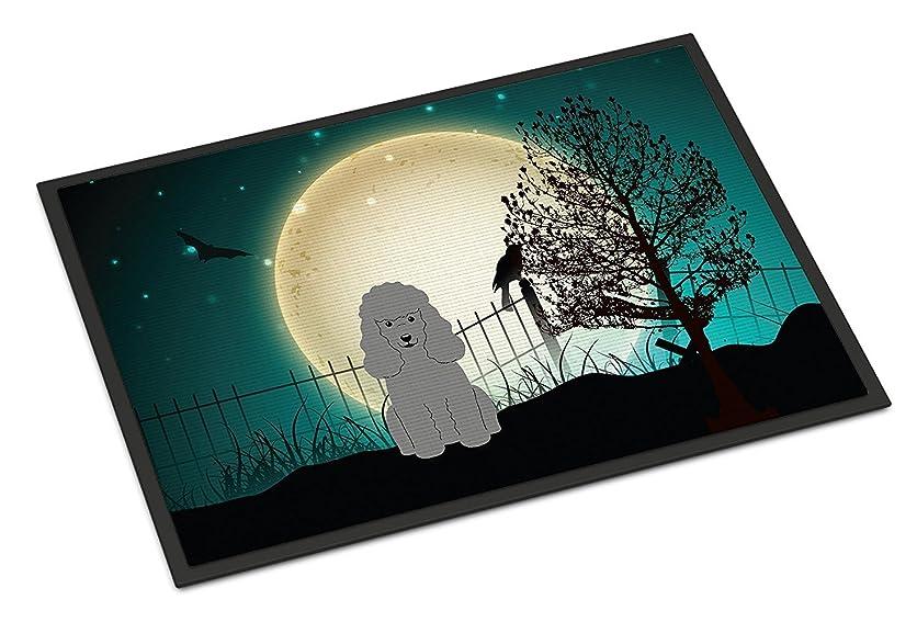 コスト彼女自身不正Caroline's Treasures BB2258MAT Halloween Scary Poodle Silver Indoor or Outdoor Mat, 18 x 27', Multicolor [並行輸入品]