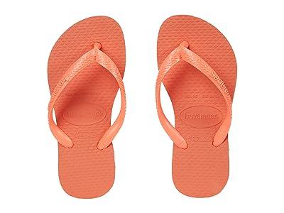 Havaianas Kids Slim Flip Flops (Toddler/Little Kid/Big Kid) (Coral Chic) Girls Shoes