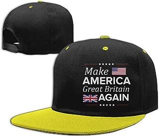 Make America Great Britain Again Design Boys and Girls Hip Hop Flat Hat Kids Adjustable Baseball Caps