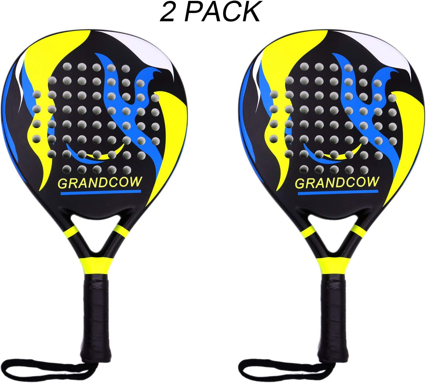 Ridículo destacar Despedida  Amazon.com : Padel Tennis Racket Racquet Carbon Fiber Power Lite Pop EVA  Foam POP Tennis Paddle Paddleball Racket Racquets (2Pcs Black) : Sports &  Outdoors