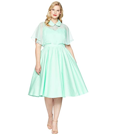 Unique Vintage Plus Size Luna Swing Dress Mesh Capelet At 6pm