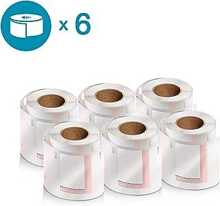 DYMO LW 邮寄地址标签 标签 标签打印机,白色,1-1/8 英寸 x 3-1/2 英寸,2 卷 260 (30572) Postage Stamps 6 rolls of 200
