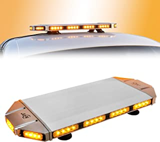 Emergency Warning Strobe Light Bar, JUEN H-2 Amber Light Bar, 56LED 27