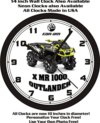 2015 CAN-AM X MR 1000 OUTLANDER ATV WALL CLOCK-FREE USA SHIP!