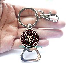 Pentagram Bottle Opener Bottle Opener Keychain Charming Goat Head Baphomet Red Bottle Opener Bottle Opener Keychain Jewelr...