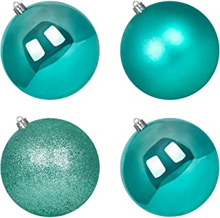 Teal Glass Ornaments