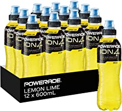 Powerade ION4 Lemon Lime Sports Drink, 12 x 600 ml