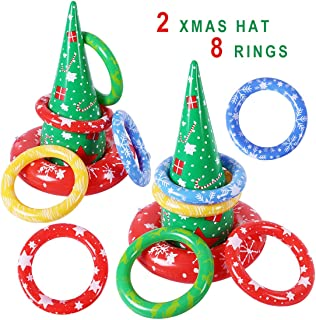 Max Fun Halloween Inflatable Spider Witch's Hat Ring Toss Game for Kids Halloween Party Favors