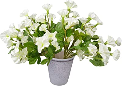 Decorebugs' Pair of Artificial Flower Bunches (Set of 2) Morning Glory -Without Pot(Height 30 cms / 12 inchs)