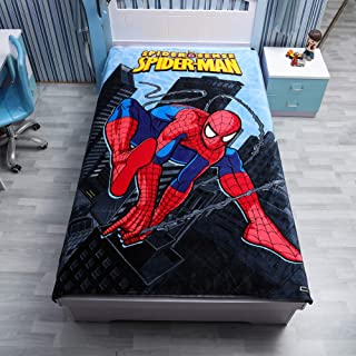 """FairyShe Spider-Man Queen Sheets Throw Blanket for Kids, 60"""" x 80""""Soft Warm Fleece Throw Blanket for Bed Couch Chair Fall Living Room(Spider-Man2)"""