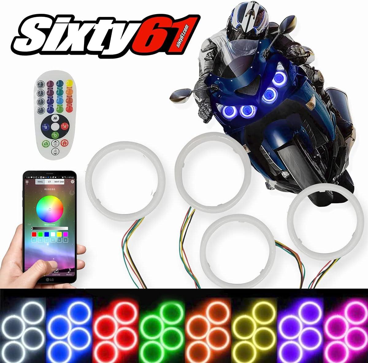 Fort Worth Mall Sixty61 Multi Color Changing Plasma Max 79% OFF for ZX1 Ninja Kawasaki Halos