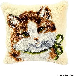 chiwanji Lovely Bear Love Pillow Latch Hook rug Kit per Principianti DIY Mat Copricuscino Ricamo Home Decor 43 x 43 cm
