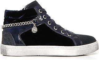 Nero Giardini A732470F Sneakers Teens Fille en Cuir Velours Et Toile
