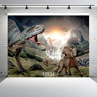 SJOLOON 7X5ft Dinosaur Photography Backdrop 3D Photo Background for Children Birthday Photo Background Studio Props 10934