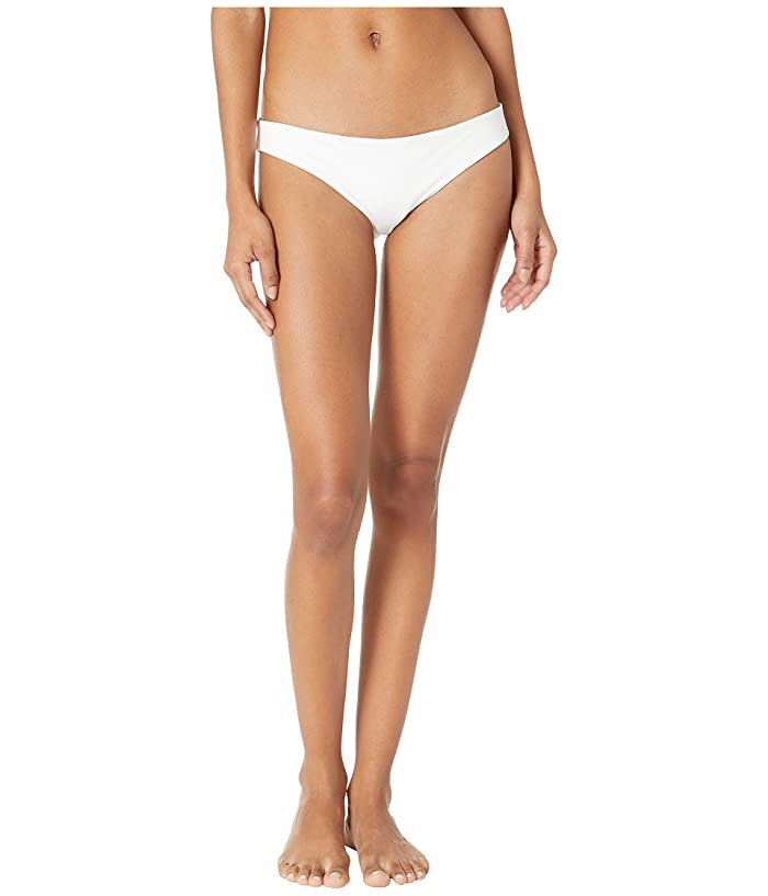 Skin The Selby Bikini Bottom (White/Oyster/Double Lined) Women