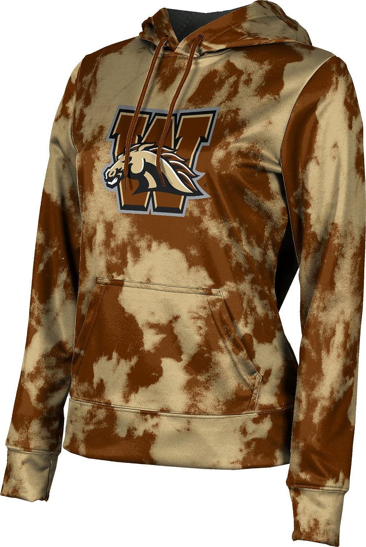 ProSphere Western Michigan University Girls' Pullover Hoodie, School Spirit Sweatshirt (Grunge)