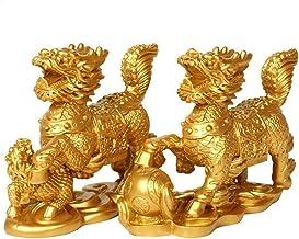 Feng Shui Hars Chi Lin/Qilin Kylin Dragon Paarden Kirin Rijkdom Welvaart Standbeeld Woondecoratie Verbeteren