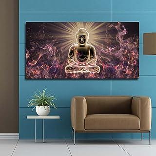 SIA VENDORS™ Meditation Buddha Wall Poster Canvas Print Oil Painting Poster Art Print Modern Home II Living Room II Bedroo...