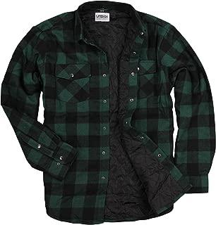 Mens Buffalo Plaid Flannel Insulated Lined Shirt Jacket