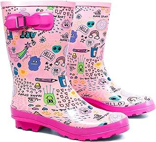 AMAWEI Kids Rain Boots for Boys Girls Toddler/Little Kids/Big Kids Rubber Waterproof Garden Shoes
