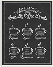 Stupell Industries Special Coffee Drink Vintage Typography Sign Wall Place، 10 × 15، متعدد الألوان