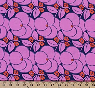 Cotton Amy Butler Hapi Heart Bloom Flowers Flower Blossoms Floral Pink Cotton Fabric Print by the Yard (PWAB123-ROSE)