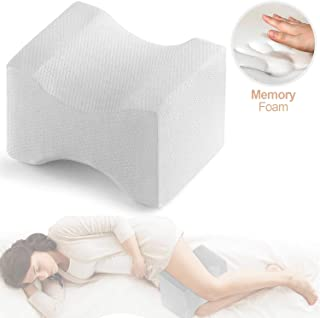 Trademark Supplies Leg Positioner Knee Pillow - Made from Memory Foam - Removable and Washable Cover - Promotes Better Sleep, Improve Blood Circulation & Proper Posture Alignment (1)