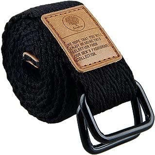 Canvas Web Belts for Men, Military Style D-ring Buckle Men's Belt