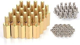 MMOBIEL 24 stuks M2.5 (11mm Body + 6mm Schroef) Hex Messing Standoff Cilinders + Schroeven + Moeren voor Raspberry Pi Seri...