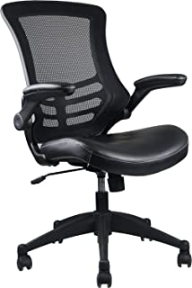Stylish Mid-Back Mesh Office Chair With Adjustable Arms. Color: Black