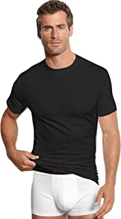 Alfani Men's Black Crew Neck Short Sleeve T Shirt 7 Pack Cotton