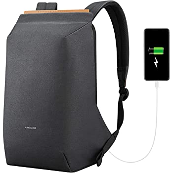 Laptop Backpack, SITHON Slim Lightweight Anti Theft Business Travel Bag with USB Charging Port, Water Resistant TSA Friendly College School Work Daypack for Women Men fits 15.6 Inch Notebook Computer